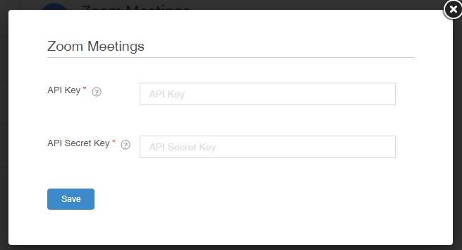 Enter API keys