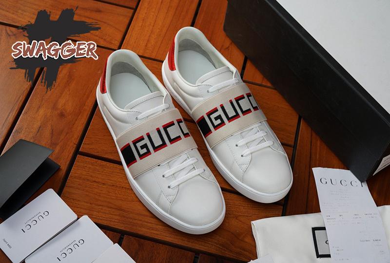 Sneaker Gucci White New ACE Elastic Band Sneakers Like Authentic dáng đẹp, khẳng định thương hiệu