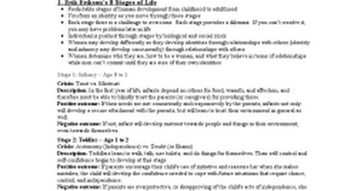 Theories Of Adult Development 8