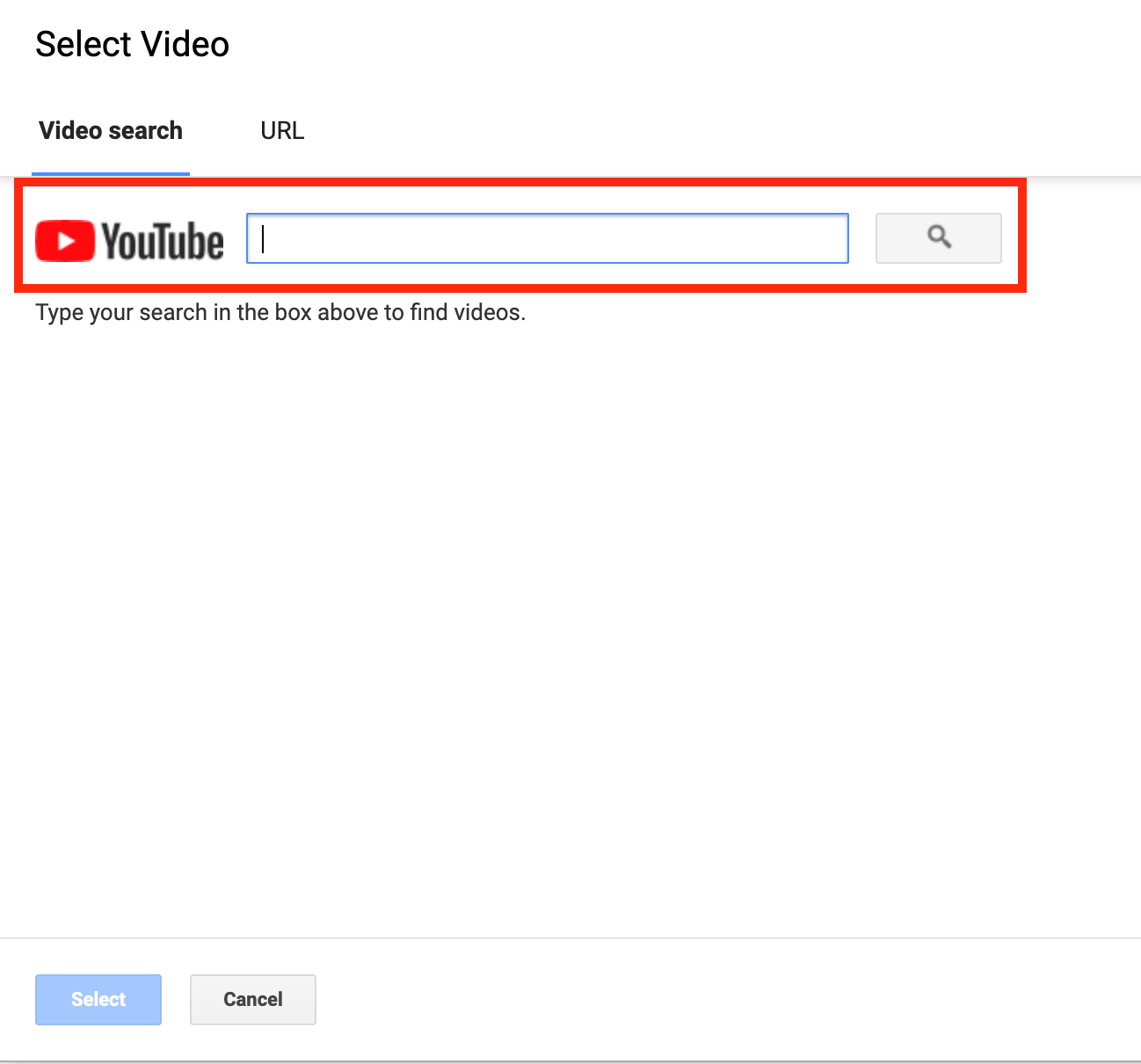 Upload video from YouTube