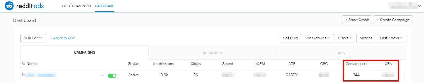 Теперь в таблице со статистикой кампаний можно просматривать данные о конверсиях