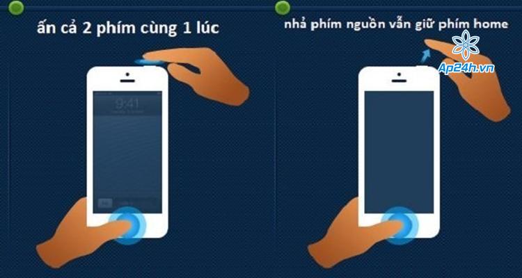 iPhone 5S bị treo táo