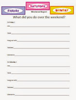 Special Education Weekend Writing Prompt