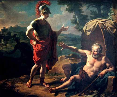Diógenes y Alejandro