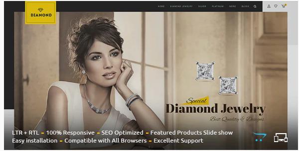 Diamond - Cosmetic opencart theme: