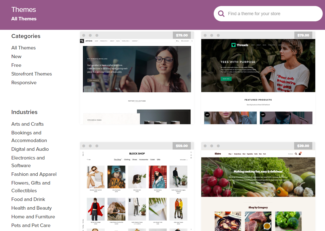 Design and Themes woocommerce