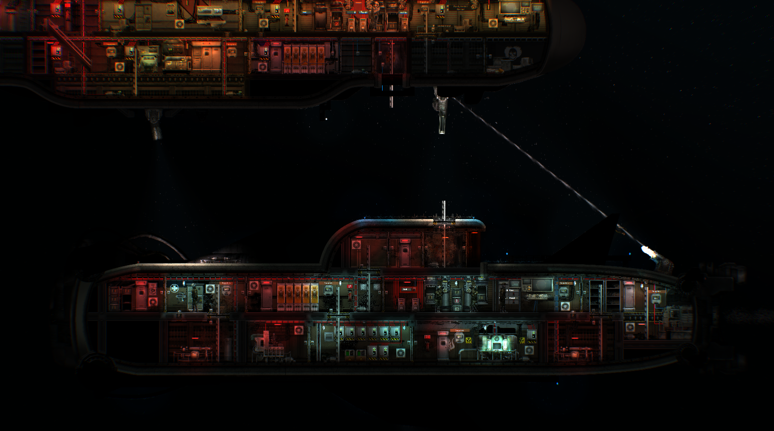 Barotrauma pirate vessel in combat