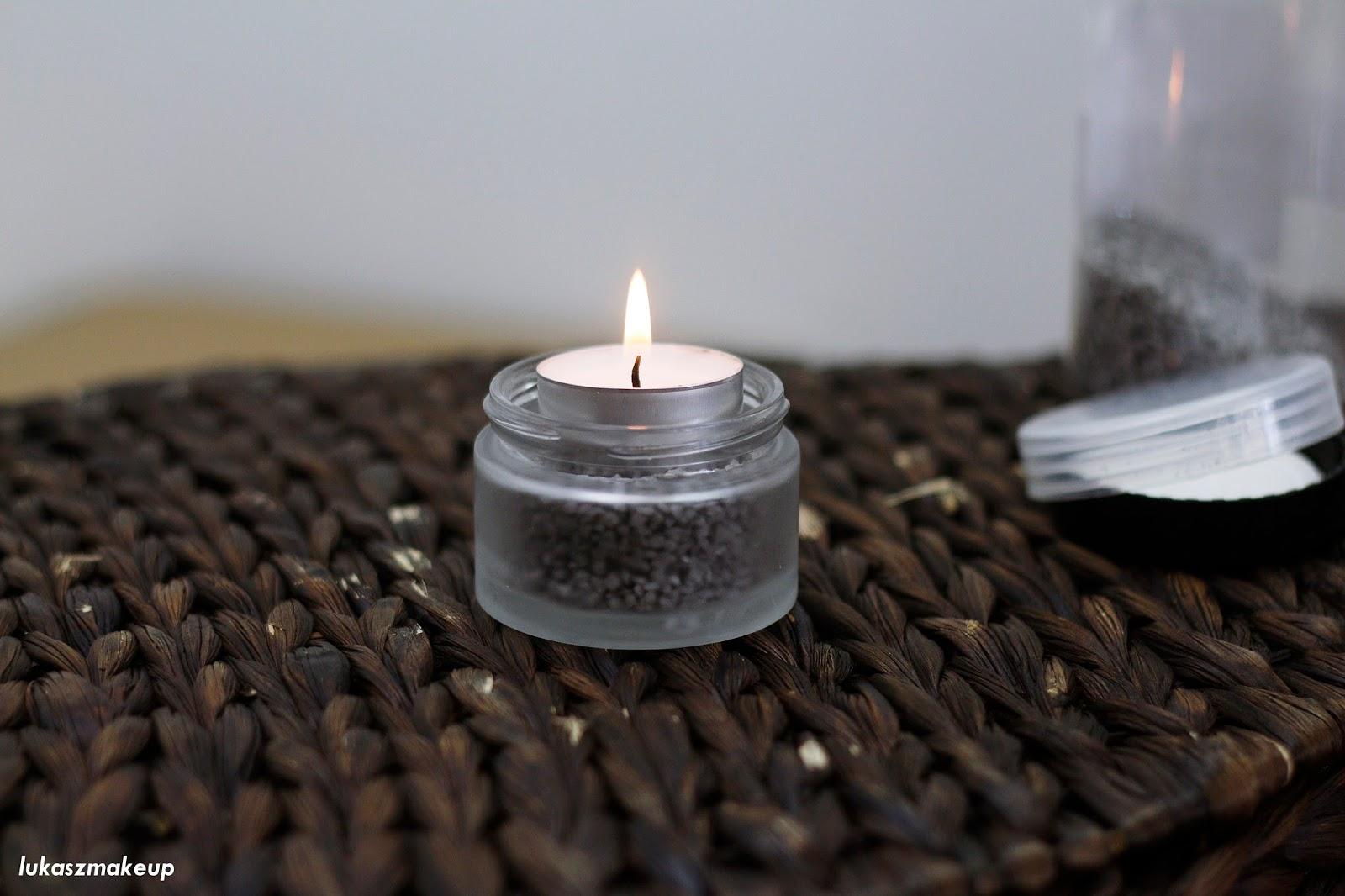 Pomysł na świecznik z opakowania po kremie