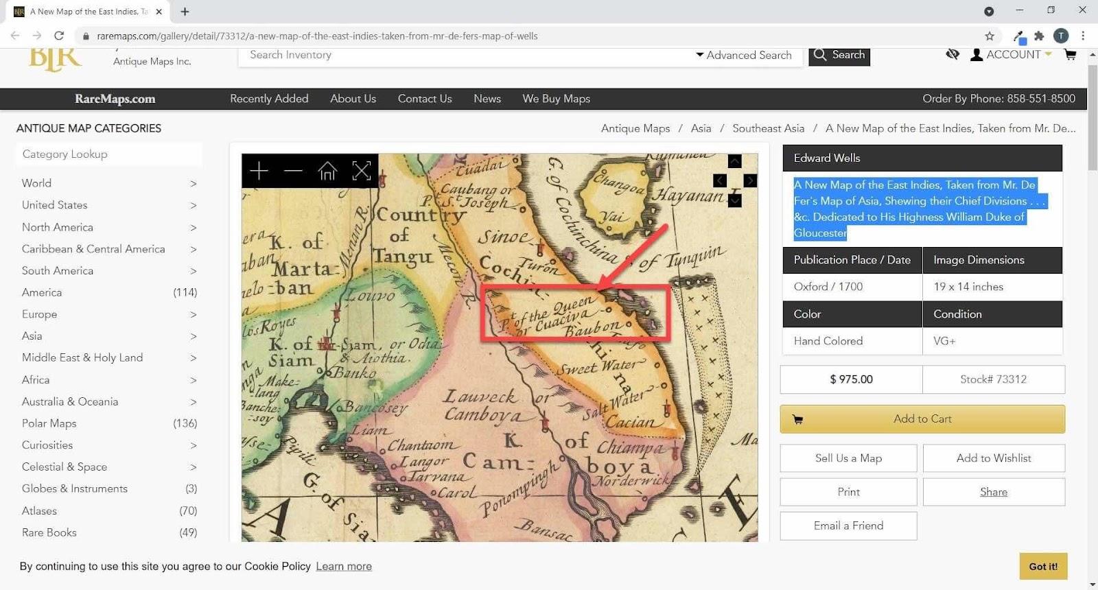 Giả thuyết về tên cửa biển Đề Di từ một tấm bản đồ xưa