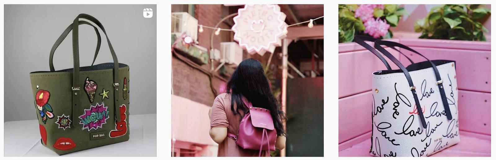 Pop Bag USA | Social Media Gallery of Latest Bag Collection