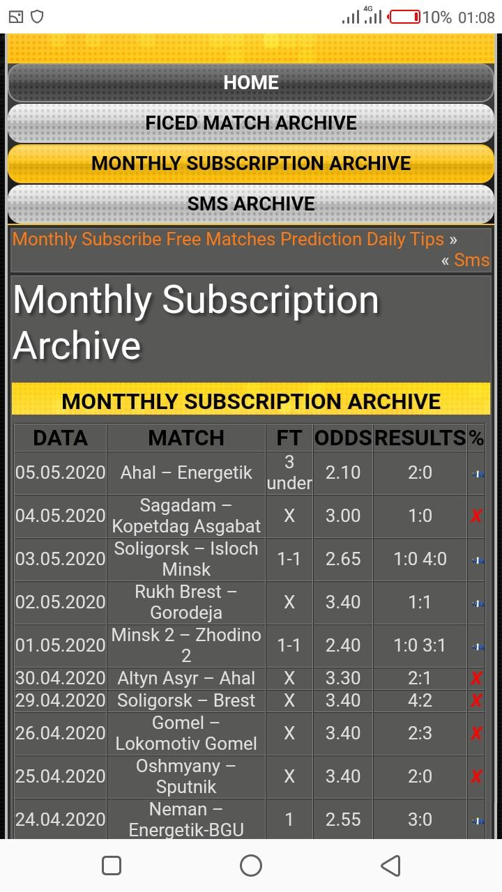 adi-bet.com Monthly subscription archive