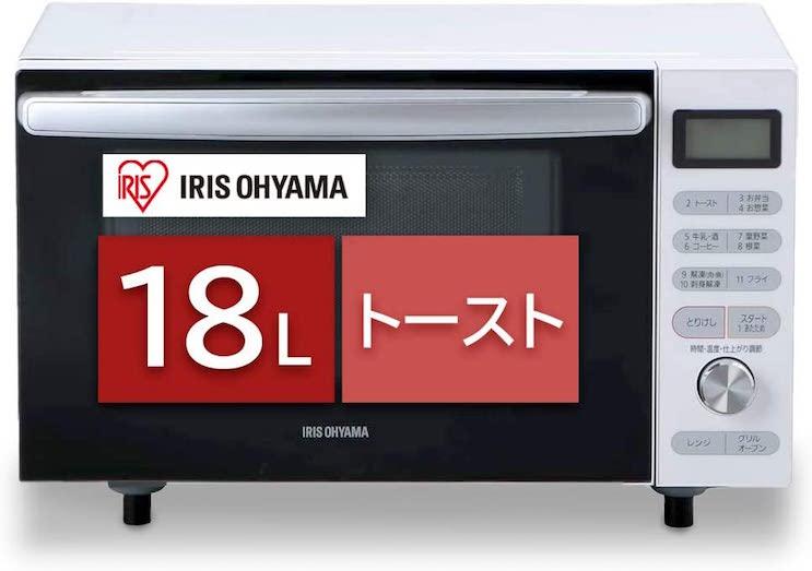 アイリスオーヤマ オーブンレンジ 18L MO-F1805-W