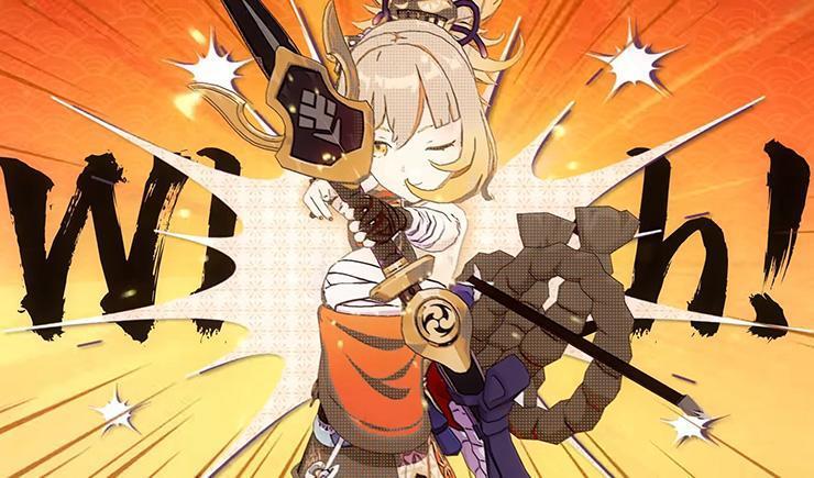 Hamayumi, signature weapon Yoimiya Genshin Impact.