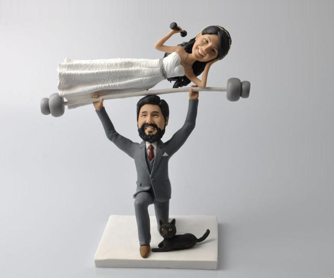 weightlifting couple topper