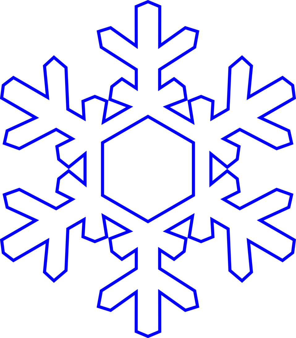 Illustration of a snowflake ...