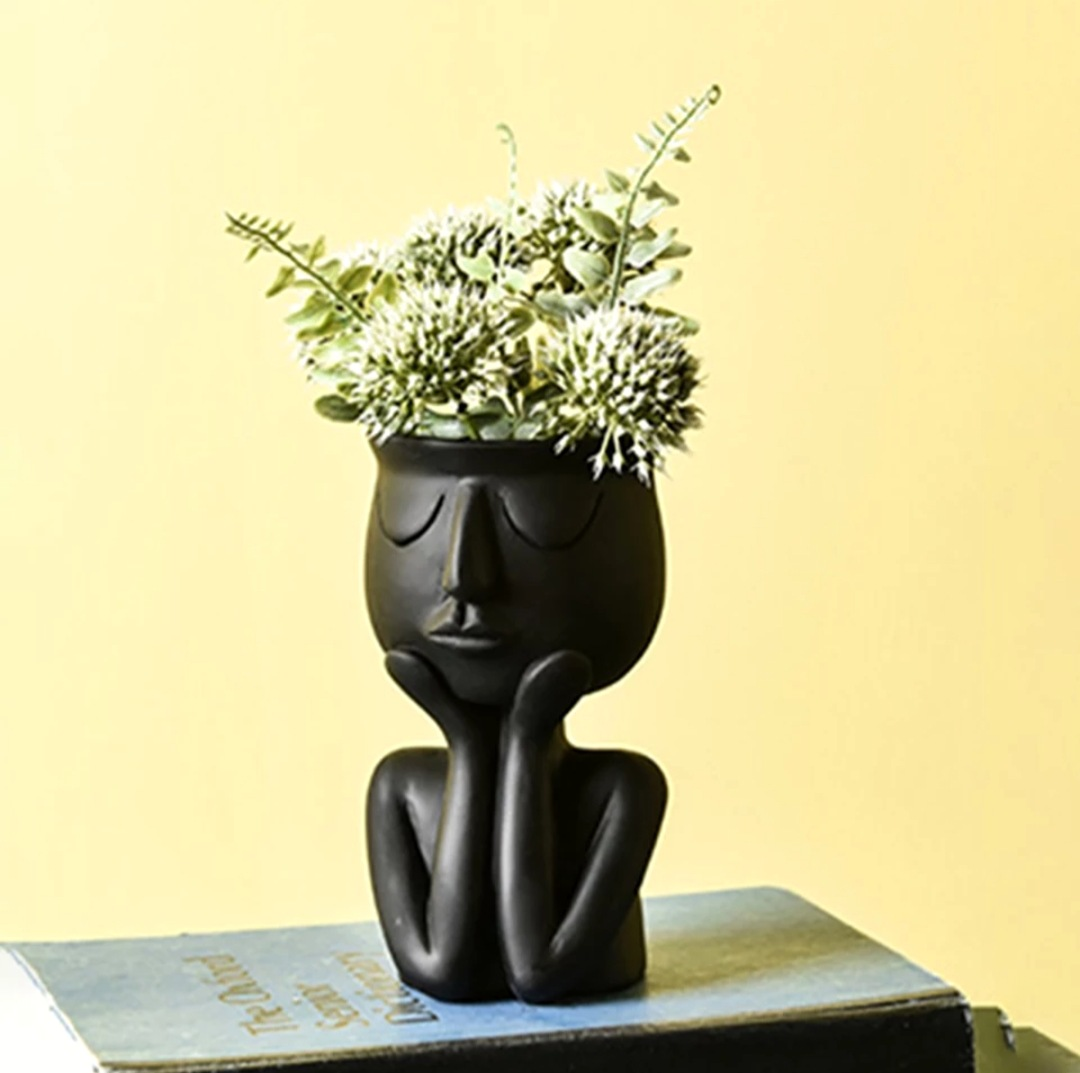 11.49US $ 19% OFF Character Portrait Flower Pot Resin