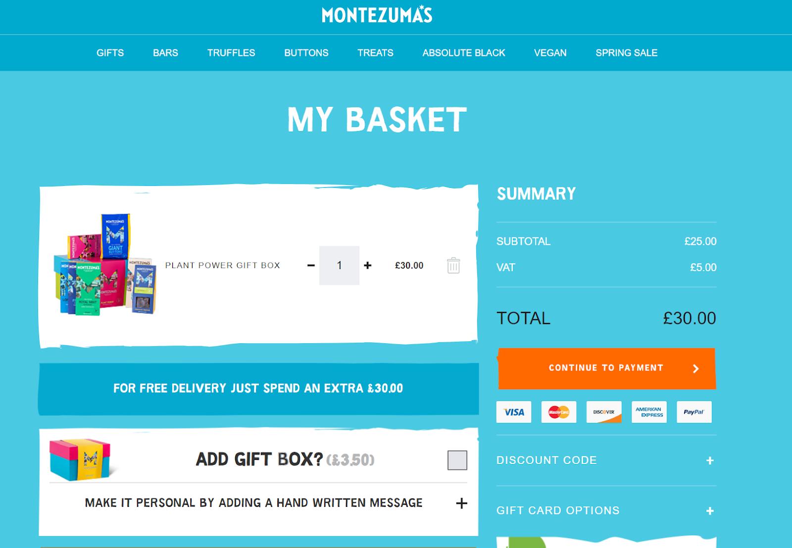 Marketing automation basket