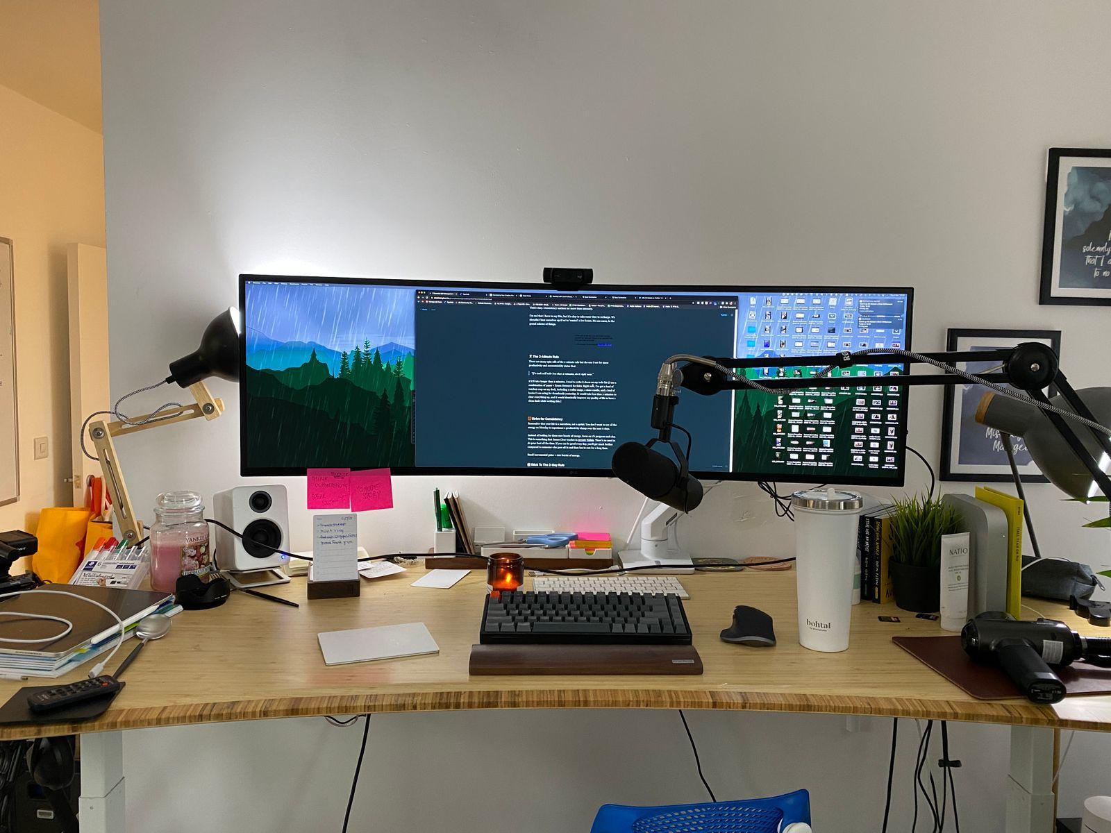 My a little bit less messy desk