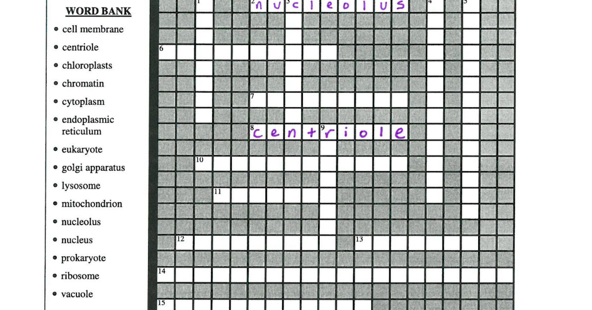 Cell Organelle Crossword Puzzle.pdf - Google Drive