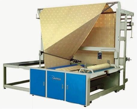 Folded fabric roll machine