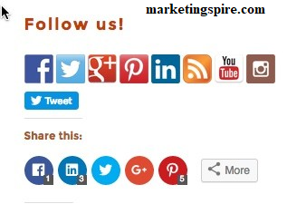Social Media Icons - Marketingspire