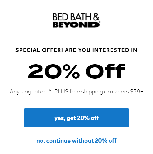 Don't Forget Your 20% Off Coupon!