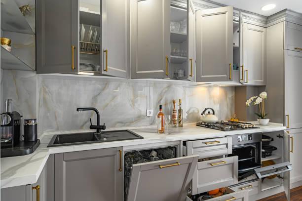 Organizing kitchen pantry cabinets