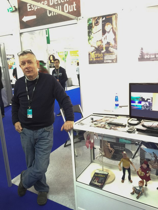 Rao Heidmets minding the Estonian Animation booth at MIFA