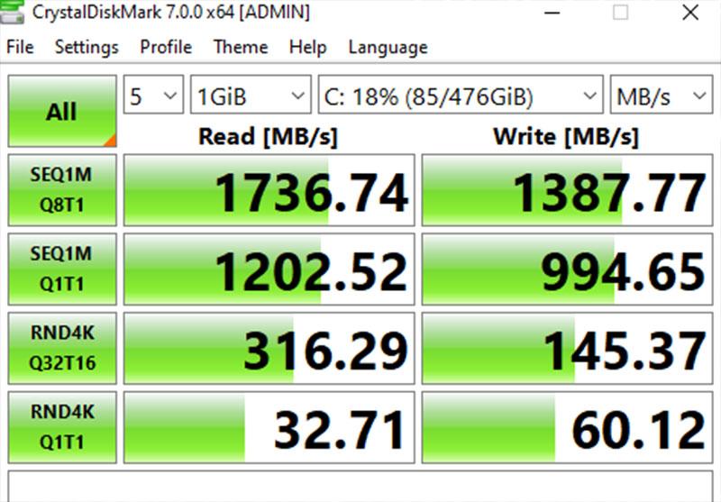 Đo tốc độ đọc ghi của ổ cứng bằng Crystal Diskmark