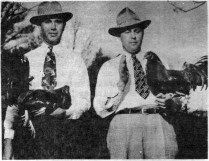 Bill and his brother Birch with two of their famous game