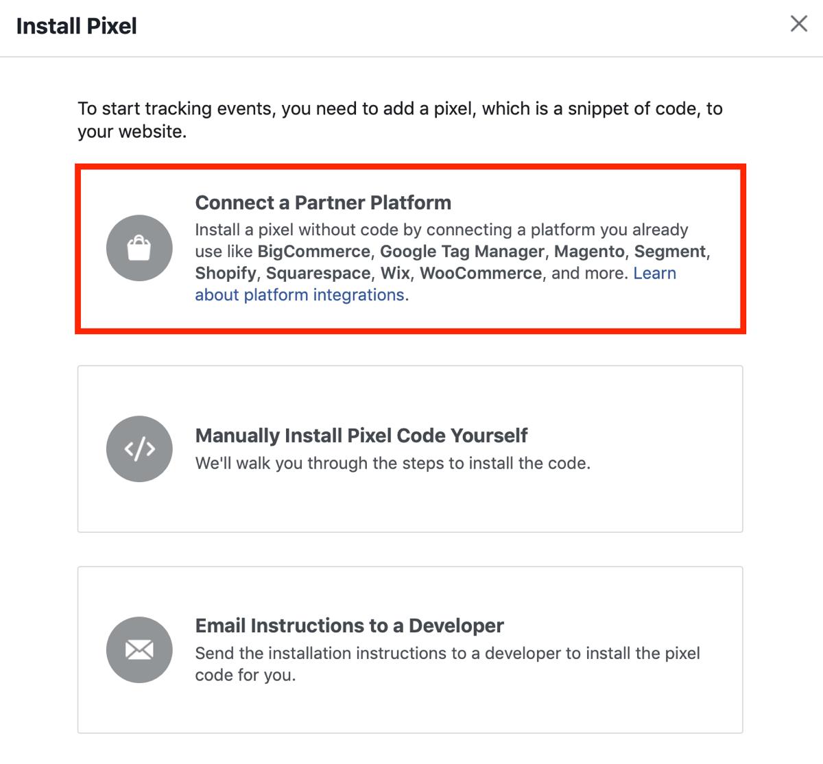 Thiết lập Facebook Pixel