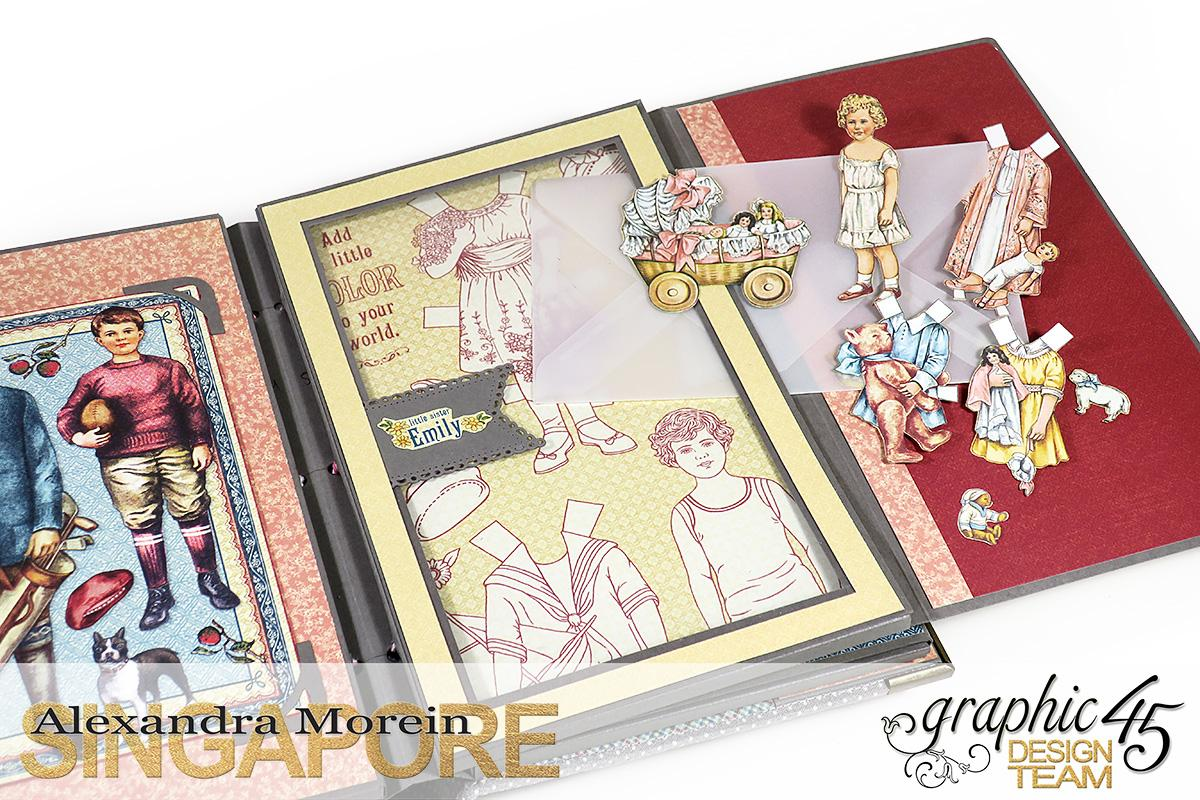 Paper Doll Play Set and Mini Album, Penny's Family Paper Doll, Tutorial by Alexandra Morein, Product by Graphic 45, Photo 16.jpg