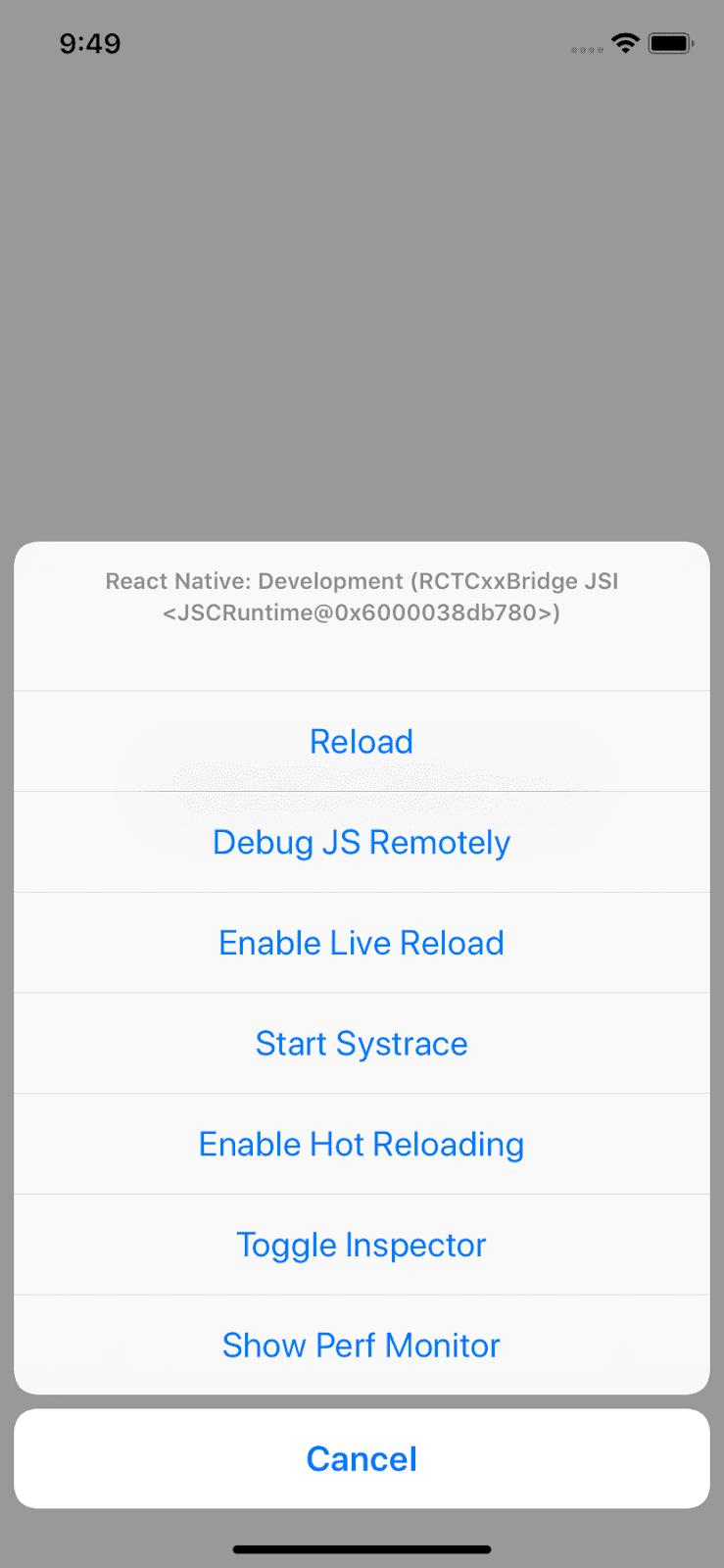 open react-native debugger