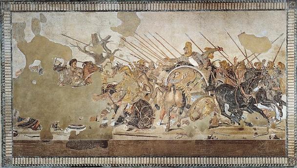 Resultado de imagem para • Batalha de Issus (Mosaico de Alexandre)