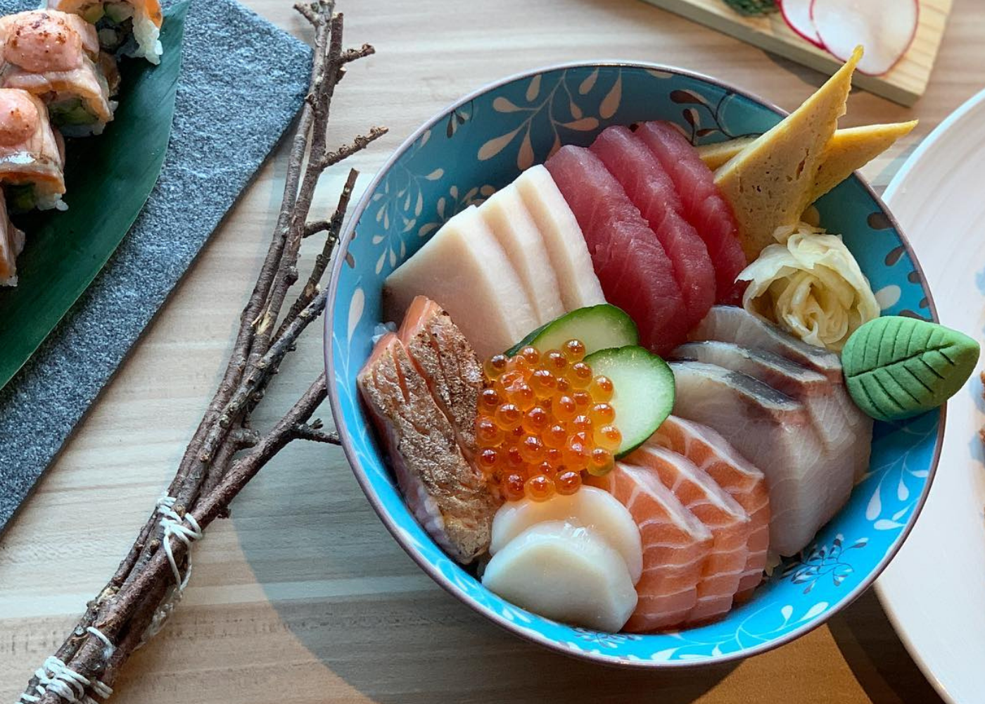 chirashi don from the sushi bar
