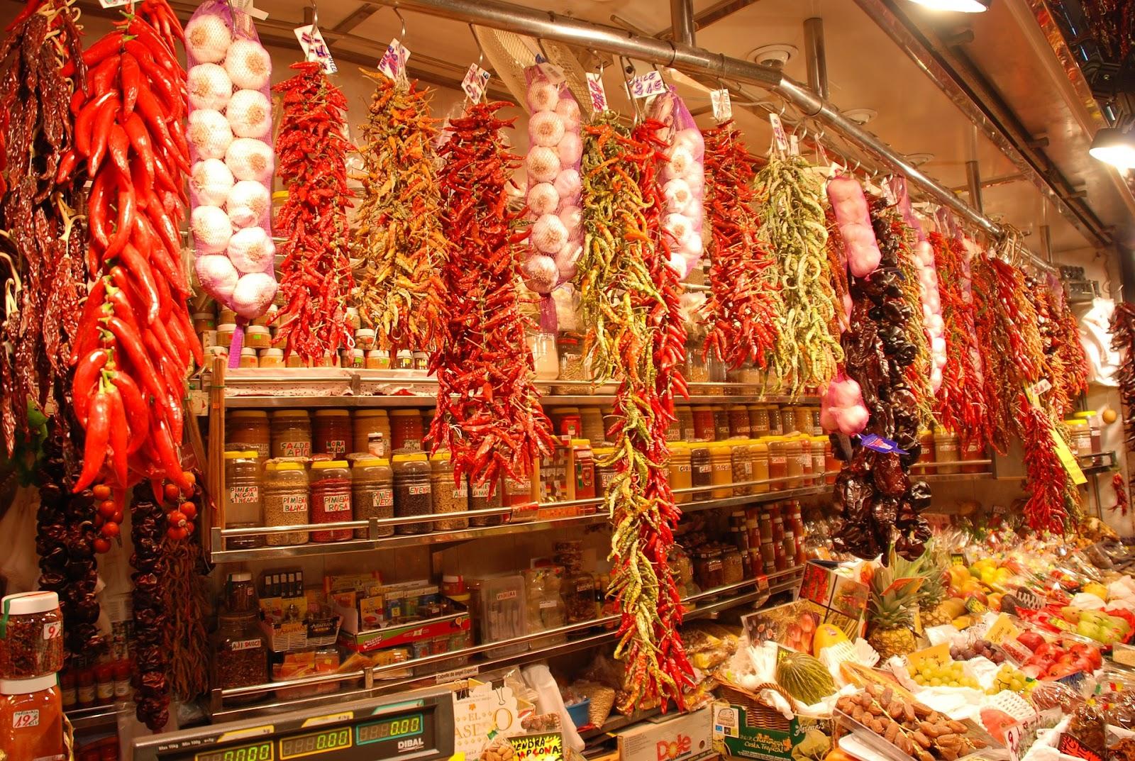 Ver Puesto de especias en el Mercado de La Boquería