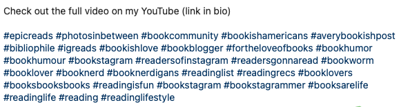 Screenshot of an instagram post that has used the max 30 hashtags in a single post.