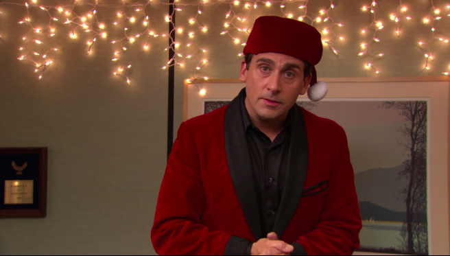this is the only two part episode so thats pretty cool similarly to the moroccan christmas this has the unique theme of classy christmas - Office Christmas Episodes