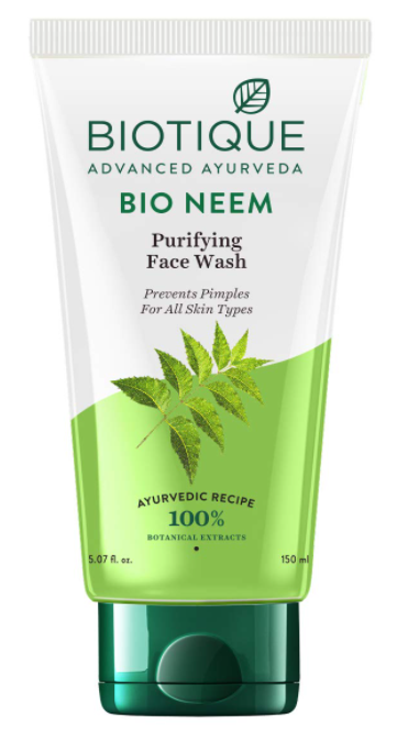 Natural Face Wash For Radiant Glow - Biotique Bio Neem Purifying Face Wash