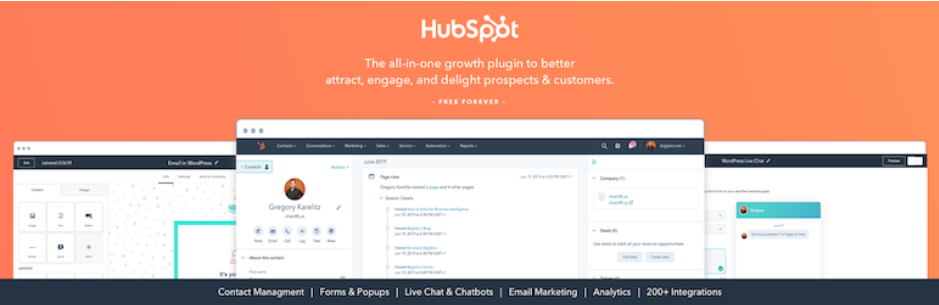 HubSpot All-In-One Marketing chat plugin