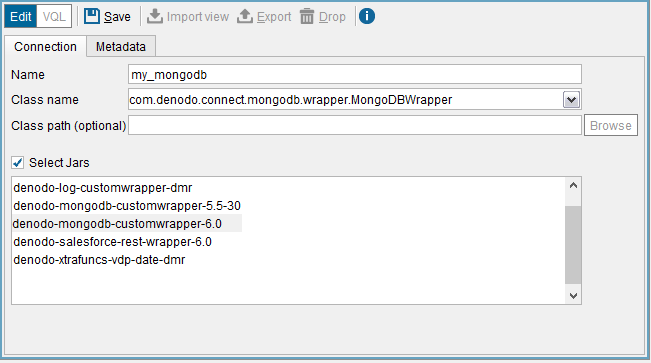 Denodo MongoDB Custom Wrapper - User Manual
