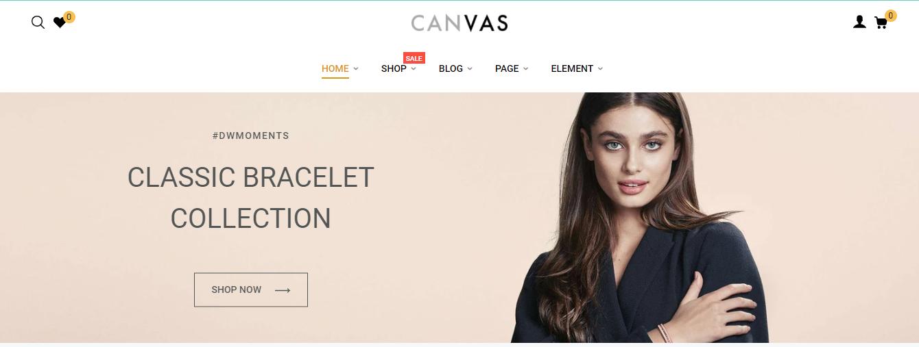 Canvas - Clean shopify theme