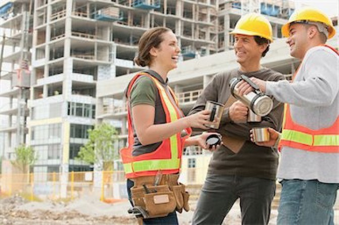 Group of Construction Workers   Service Industry