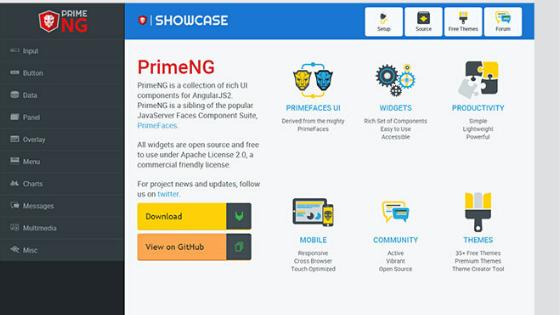 Angular UI Framework:PrimeNG