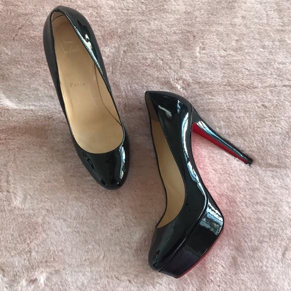 Solid black heels