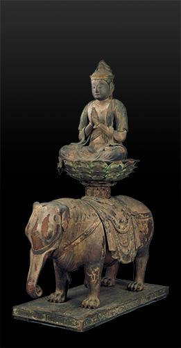 国宝 普賢菩薩騎象像 平安時代・12世紀 東京・大倉集古館蔵