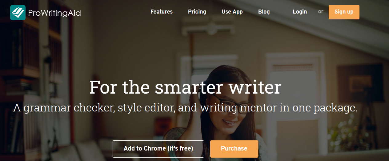 Pro Writing Aid homepage