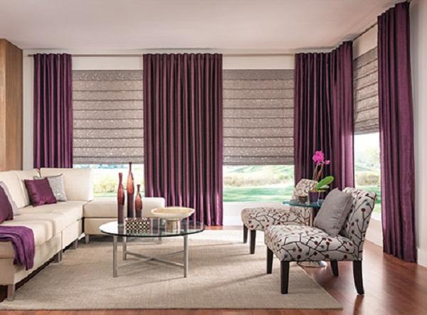 Rèm vải trơn tạo cảm giác nhẹ nhành, thư thái cho căn phòng