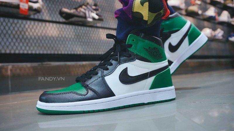 giay nike air jordan 1 retro green white