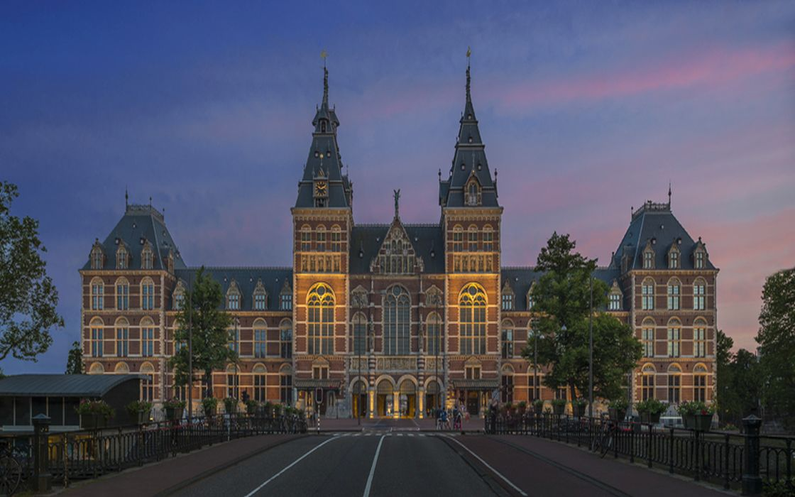 Outside of the Rijksmuseum